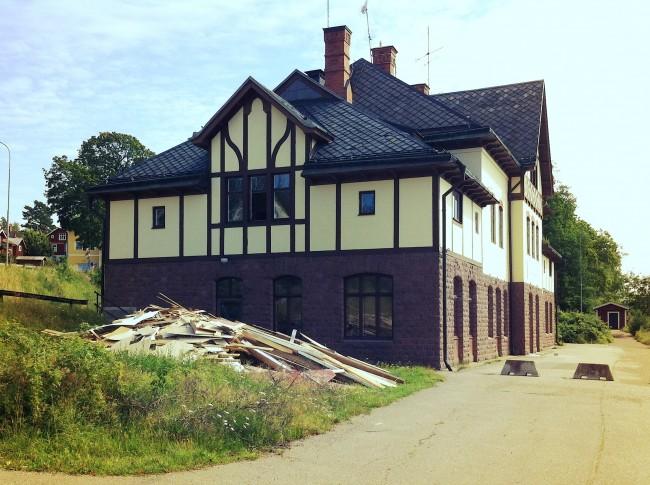 Ängelsberg station förstörs