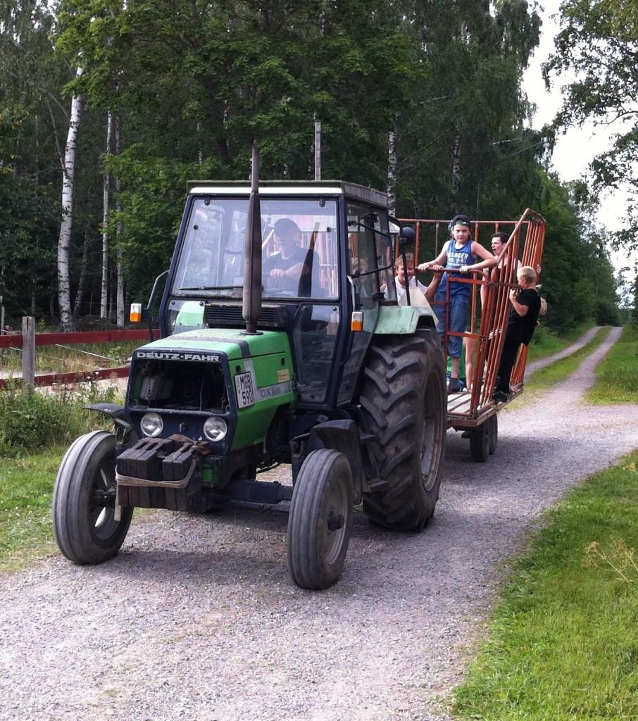 Traktor hö